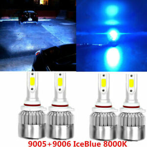 For Dodge Charger 2006 2007 2008 2010 Ice Blue Led Headlight Bulbs 4pc