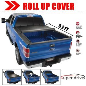 Black Lock Roll Up Tonneau Cover Bed Cover For 2015 2019 Chevy Colorado 5 2f Bed
