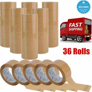 36 Rolls Packing Tape Lot Carton Box Sealing Package Clear 2 x110 Yards 330ft Eg