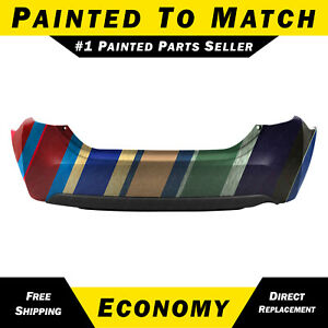 New Painted To Match Rear Bumper Cover Replacement For 2014 2019 Toyota Corolla