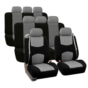 Integrated Seatbelt Seat Covers For 3 Row Suv Van Universal Fitment Split Bench