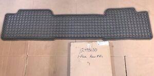 New 01 07 Silverado Sierra Crew Cab Rear 2nd Row Floor Mat Gray Gm 12498630 Oe