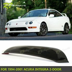 For 94 01 Acura Integra 2dr Smoked Rear Roof Window Visor Sun Guard Spoiler Wing