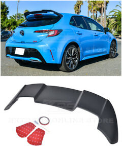 For 19 Up Toyota Corolla Hatchback Jdm Abs Plastic Rear Roof Window Wing Spoiler