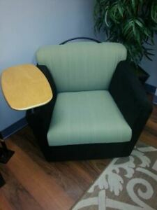Used Brayton Mobile Lounge Chairs With Tablet Arms