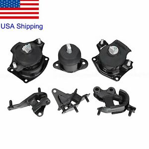 Engine Transmission Motor Mounts For Honda Accord 2 4l Automatic With Hydraulic