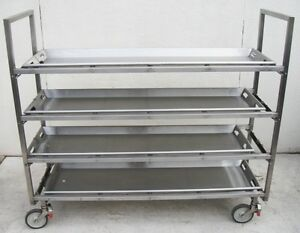 Shandon An 81 Multi body Carrier 4 tier Mortuary Morgue Cadaver Cart Transport