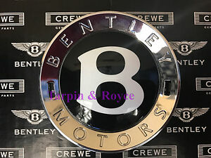Bentley Center Cap 100 Genuine For All Size Wheels Black With Chrome Brand New