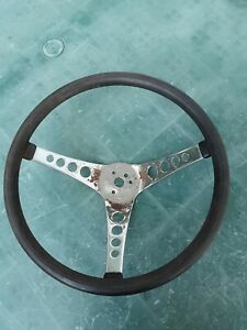 Vintage Superior Industries The 500 Black Steering Wheel Gasser Rat Rod