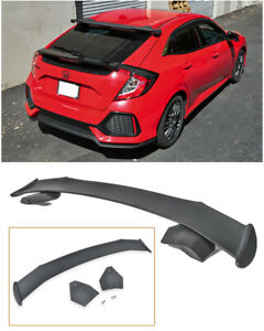 For 16 up Honda Civic Hatchback Fk4 Fk7 Jdm Spoon Style Rear Roof Wing Spoiler