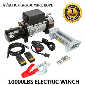 10000lbs Electric Recovery Winch Truck Remote Control For 18 Jeep Grand Cherokee