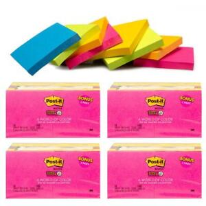 Post it 64 Pack 3x3 Bright Post It Notes Pads School Office Supplies