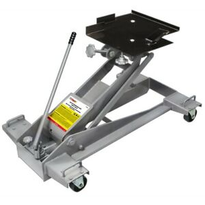 Otc Tools 1522a Low Lift 2000 Lb Hydraulic Transmission Jack With Adapter Plate
