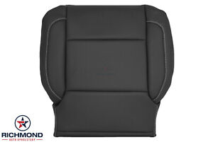 2014 Chevy Silverado 1500 Ltz Ac Lz driver Side Bottom Leather Seat Cover Black