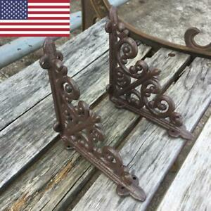 Vintage Antique Style Cast Iron Bracket Garden Braces Rustic Shelf Bracket Brown