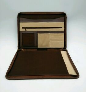 Monarch Luggage Co Leather Pad Folio Organizer Brown Buisness Planner Padfolio