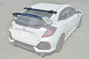 For 16 up Honda Civic Hatchback Jdm Type r Rear Spoiler Spoon Style Roof Wing