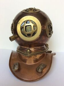 Copper Brass Diver S Helmet Diving Mini Decor Replica Vintage 8 Sea Us Navy