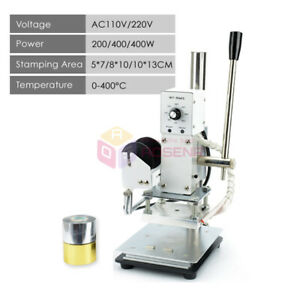 Hot Foil Stamping Machine Leather Pvc Printing Logo Embossing W free Foil Paper