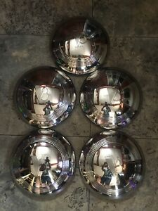 5 New 1940 1941 Ford Pickup Truck V8 Stainless Hubcaps 40 Ford Standard Car
