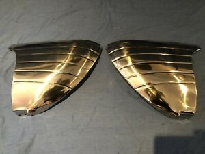 1948 1949 Cadillac 2d Rear Stone Gravel Guards Convertible Coupe Pair Nice