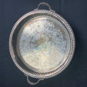 Vintage W S Blackinton Fine Silver Plate Footed 10 Tray Bowl Dish W S Serving