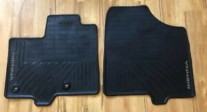 Oem Toyota Rubber All Weather Floor Mat Set 11 18 Toyota Sienna 2pc Front Only