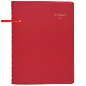 At a glance 2020 Weekly Planner appointment Book 8 1 2 X 11 Large Red 7094