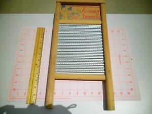 Antique Vintage Columbus Washboard Co Scanty Handi 18 Wood Zinc
