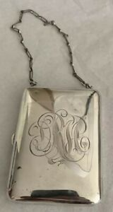 Vintage Sterling Silver Change Purse Compact