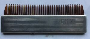 Sterling Silver Mustache Comb C Q R Fold Away Pat 1922
