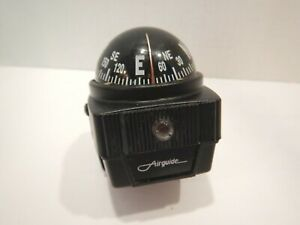 Vintage Airguide Car Truck Auto Boat Compass With Bracket And Light