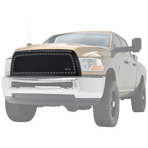 Grille Front Stainless Steel Mesh Rivet Studded Fit 10 12 Dodge Ram 2500 3500 Hd