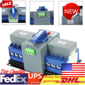 110v 50 60hz Automatic Transfer Switch 63a 4p Ats Cb Level Self Cast Dual Power