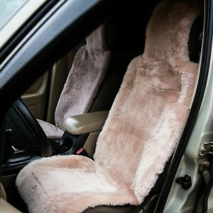 Two Car Seat Covers Genuine Australian Sheepskin 43 20 Inches Long Wool