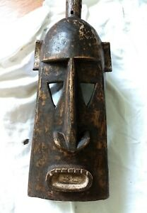 African Art Mask Large Dogon Hand Carved Authentic From Mali