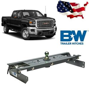 B W Gnrk1016 Turnoverball Gooseneck Hitch For 2016 2019 Chevy Gmc 2500hd 3500hd