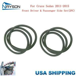 Front 2pc Door Rubber Weatherstrip On Car Body For Chevrolet Cruze Sedan 2011 15