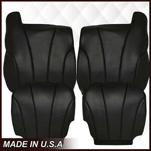 1999 2000 2001 2002 Gmc Sierra Work Truck Synthetic Leather Seat Cover Dark Gray