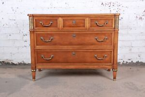 Baker Furniture Louis Xvi Style French Regency Three Drawer Bachelor Chest