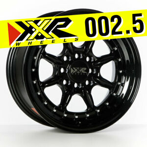 Xxr 002 5 15x8 4x100 4x114 3 20 Full Gloss Black Wheels Set Of 4