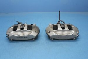 2012 Porsche Cayenne S 4 8l 1 Rear Left And Right Brake Calipers Oem