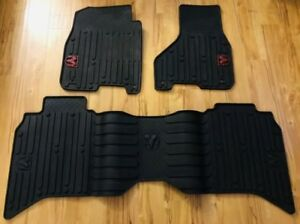 2013 2018 Dodge Ram Rebel Crew Cab Front Rear All Weather Floor Mat Oem Mopar