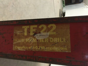 Hilti Te 22 Hammer Drill With Case
