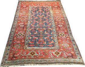 A Must Sww Antique Tribal Persian Kurd Bidjar Area Rug