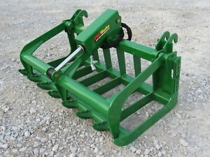 John Deere Tractor Loader 84 Severe Duty Root Rake Grapple Bucket Attachment