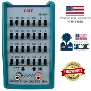 Gme Resistance Decade Box Resistor Substitution 0 11 111 110 Ohm usa Warranty