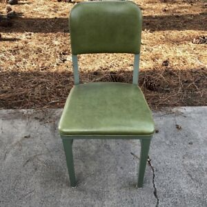 Mcdowell Craig Industrial Plush Tanker Chair Green Vintage