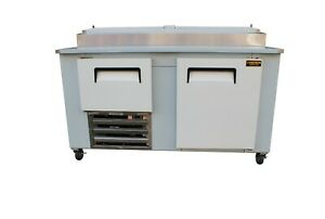 Cooltech 1 1 2 Door Refrigerated Pizza Prep Table S s Top 60