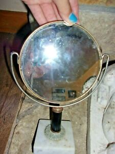 Vintage Table Mirror Boudoir Bedroom Marble Make Up Old Decor Antique Accen